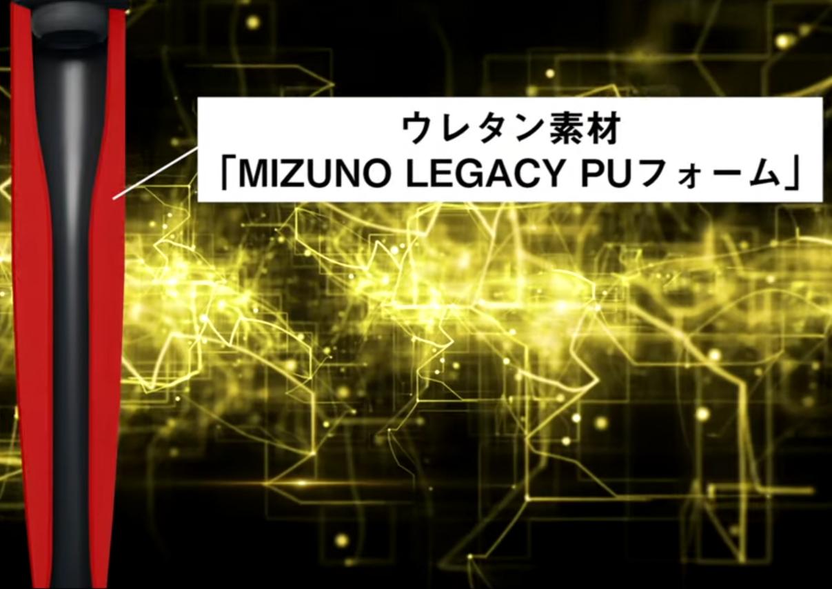 ウレタン素材「MIZUNO LEGACY PUフォーム